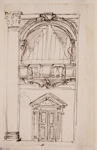 Estudio de puerta y con balustrada en la parte superior