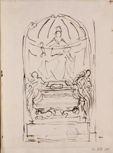 Apunte ligero del monumento funerario de Inocencio XI