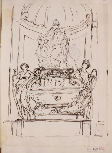 Estudio para el monumento funerario de Inocencio XI