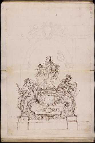 Estudio para el monumeto funerario de Inocencio XI