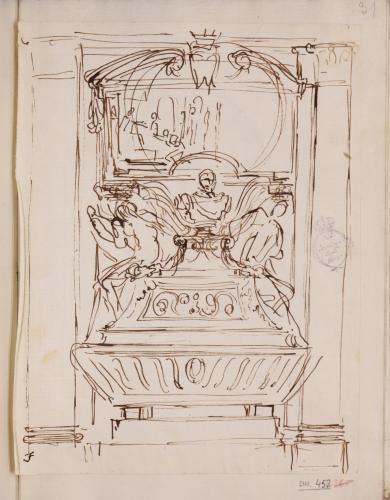 Apunte para el monumento funerario de un prelado
