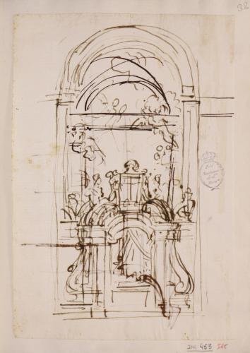 Apunte para una puerta de una iglesia