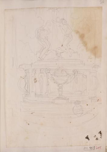 Estudio para un altar con el tema del Bautismo