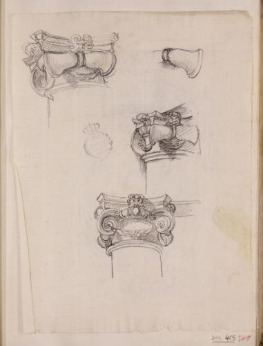 Estudio de cuatro capiteles