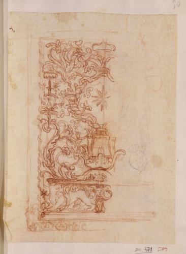 Estudio de panel decorativo con escudo
