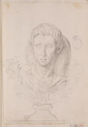 Pedestal con busto romano (Augusto?)