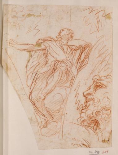 Estudio para la pechina de la capilla de la presentación del Vaticano del Profeta Balaam
