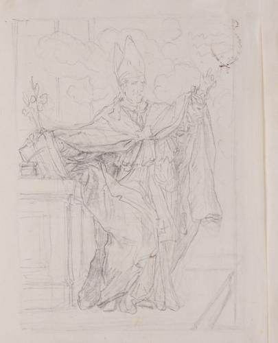 Estudio de Obispo predicando