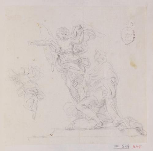 Estudio para una escultrua de un joven arrodillado con un ángel