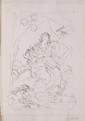 Estudio de Santa Rosalía de Palermo esculpiendo
