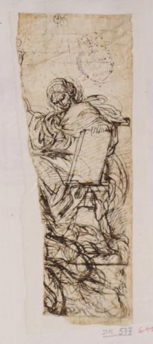 Estudio de la alegoría de la Fe para la pechina del Palacio Altieri