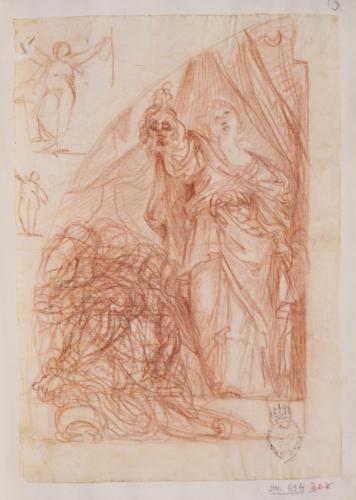 Estudio de Judit y Holofernes