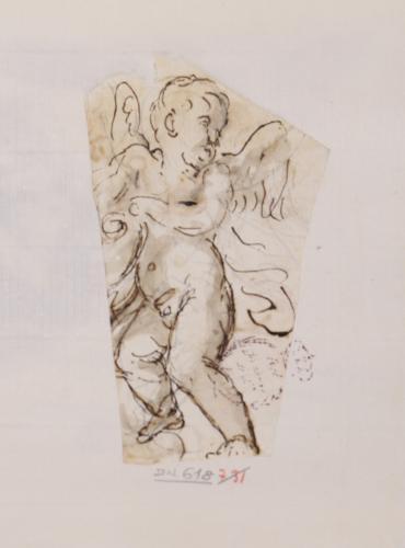 Estudio de figura de angel niño