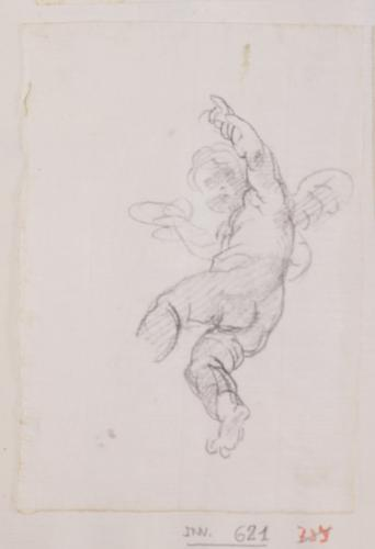 Estudio de ángel niño volando