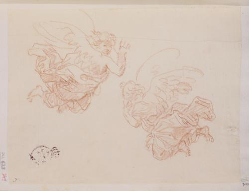 Estudio de dos ángeles volanderos