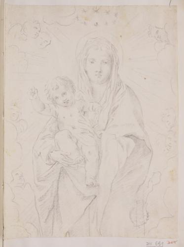 Estudio de la Virgen con el Niño