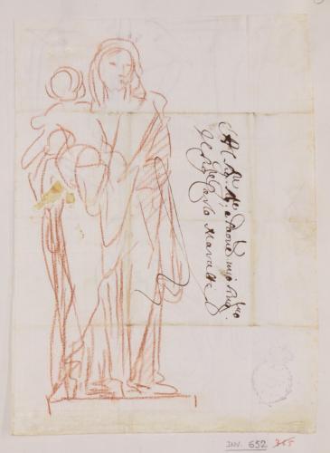 Estudio de Virgen de pie con el Niño