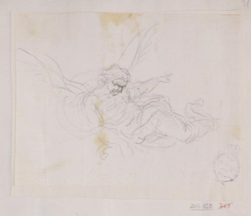 Estudio de ángel volando