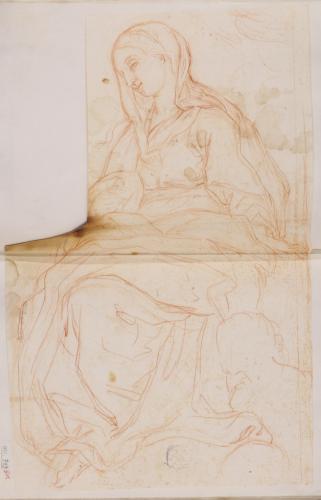 Estudio de la Virgen sentada