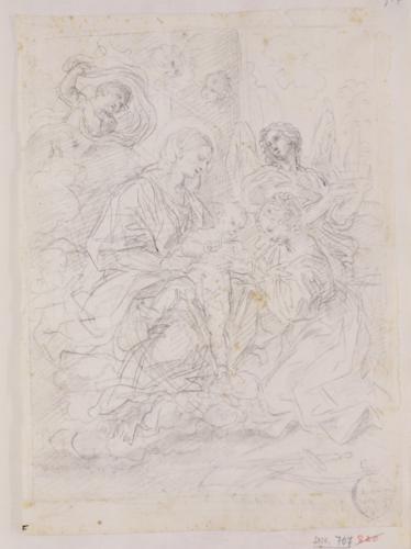 Estudio compositivo del matrimonio místico de Santa Catalina de Siena