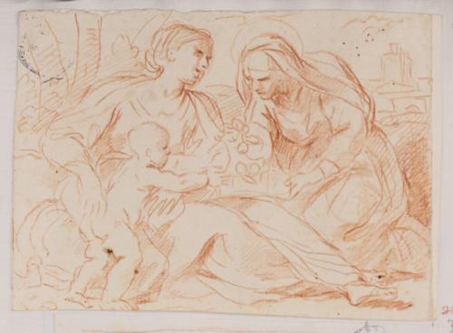 Estudio compositivo de la Virgen, Santa Ana y el Niño