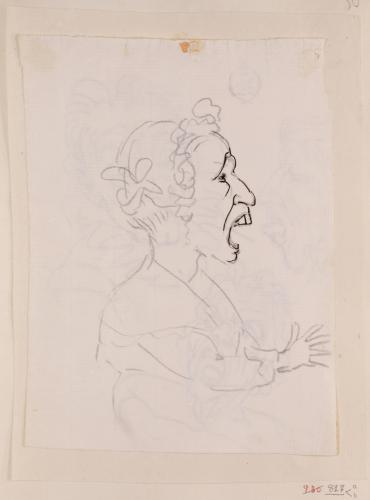 Caricatura femenina de perfil