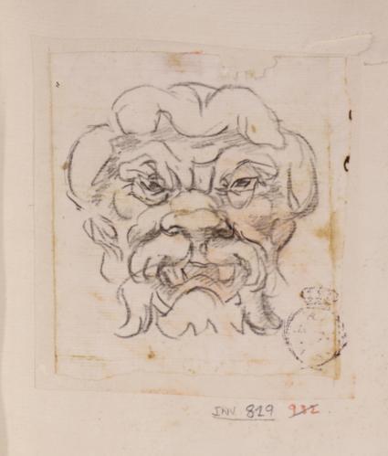 Caricatura masculina de frente