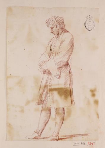 Estudio de joven caballero de pie