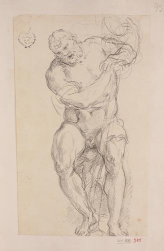 Estudio de Hércules sentado