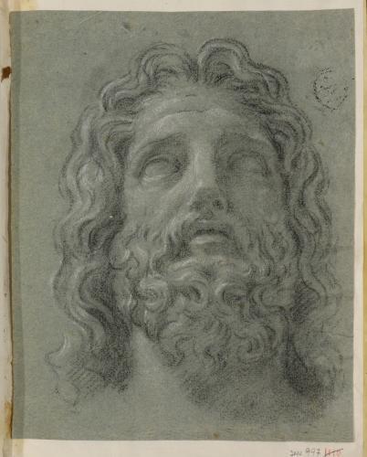 Estudio de cabeza de Zeus