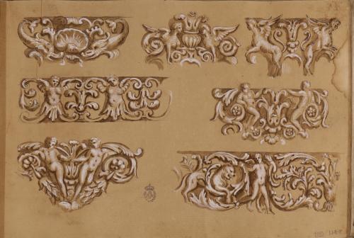 Estudio de motivos pictóricos (grutescos) y relieves decorativos romanos