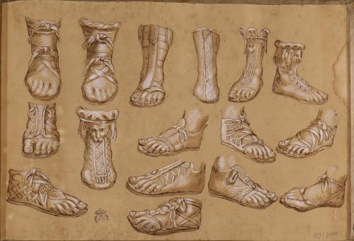 Estudio de distintos tipos de calzados romanos