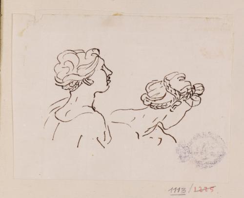 Estudio de dos cabezas femeninas