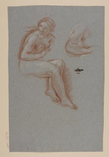 Estudio de figura femenina desnuda