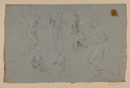 Estudio de figuras masculinas y femenina y brazos