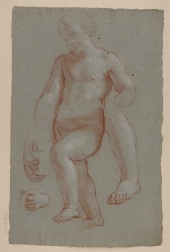 Estudios de de cuerpo, manos y pie de niño