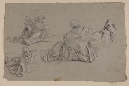 Estudio de figura de monje sentado