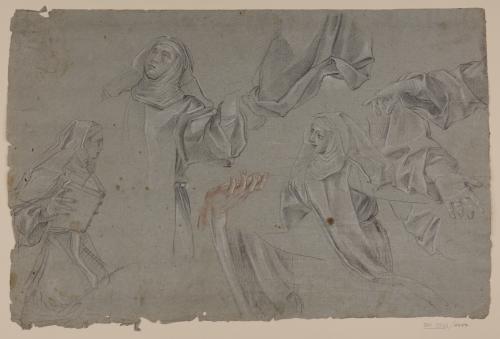 Estudios de monjas, paños y manos