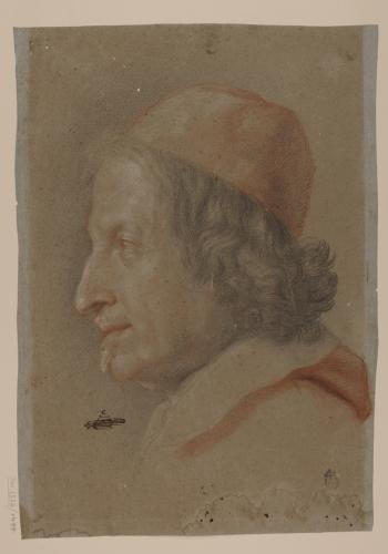 Retrato de perfil del Cardenal Antonio Barberini