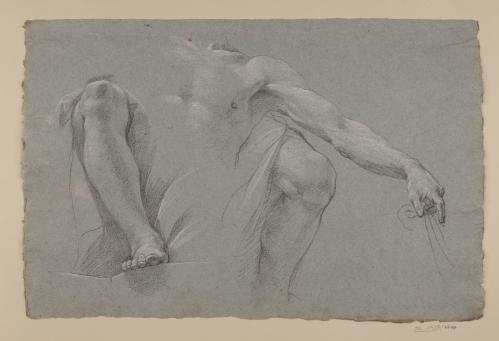Estudios de de figura masculina sentada