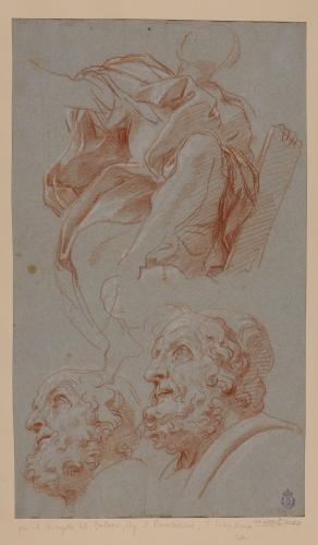 Estudio de cabeza y figura del profeta Balaam