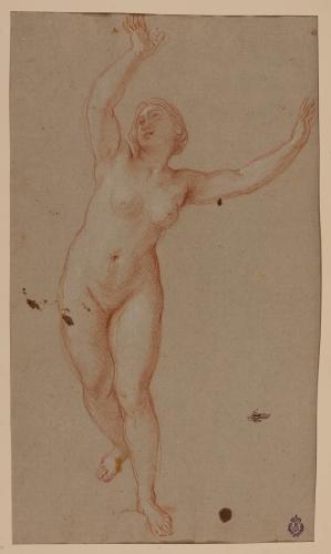 Estudio de mujer desnuda corriendo (Dafne)