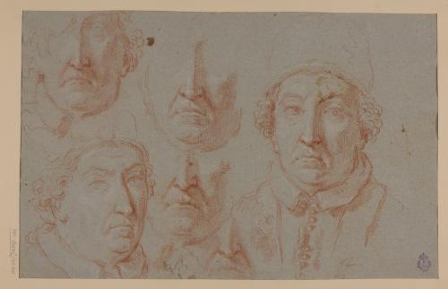 Estudios del rostro del Papa Clemente XI