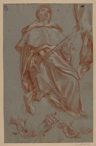Estudio de San Filippo Benizzi, ropaje y manos