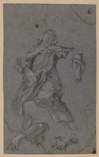 Estudio de Santa monja, brazo y manos