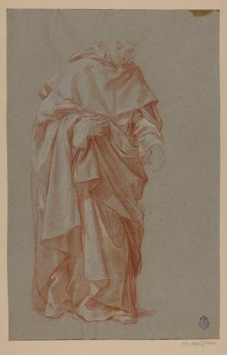 Estudio de figura de monje en pie