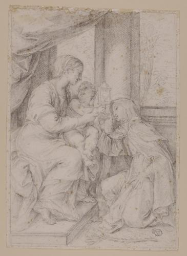 La Virgen y el Niño con Santa Clara