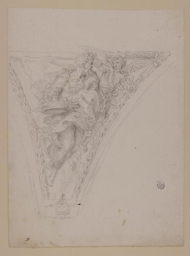 Estudio para pechina de Habacuc y el ángel