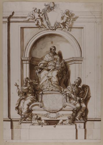 Estudio para la tumba de Inocencio XI