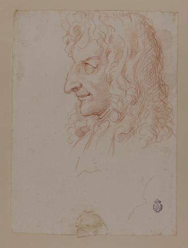 Caricatura del escultor Domenico Guidi